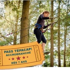 Billetterie Pass Tépacap! Accrobranche 7 ans la Vallée des Korrigans Savenay
