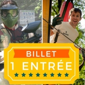 Image Billets Pass Sensation Paintball + Tépcap! Accrobranche